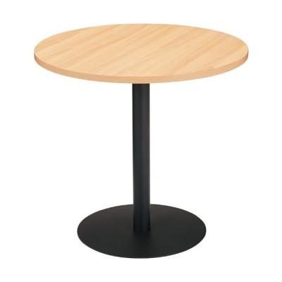 PKテーブル円形 W750天板ナチュラル脚ブラック SOT−M750−PN−N/B  送料・組立・設置が無料 アイリスチトセ株式会社 46994387