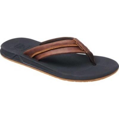 リーフ メンズ サンダル シューズ Leather Element TQT Flip Flop Black/Brown Leather