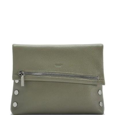 ハミット レディース ショルダーバッグ バッグ VIP Studded Leather Fold-Over Zip Flap Medium Crossbody Bag