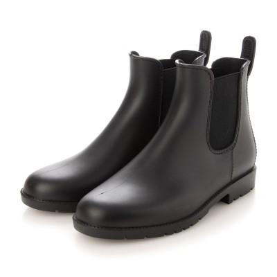 デメテル DEMETER 雨でもおしゃれに履ける☆サイドゴアレインブーツ (ブラック)