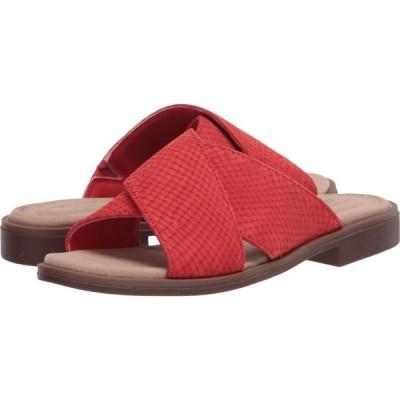 クラークス Clarks レディース サンダル・ミュール シューズ・靴 Declan Ivy Red Interest Nubuck