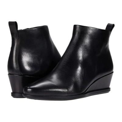 エコー Shape 45 Wedge Ankle Boot レディース ブーツ Black Cow Leather
