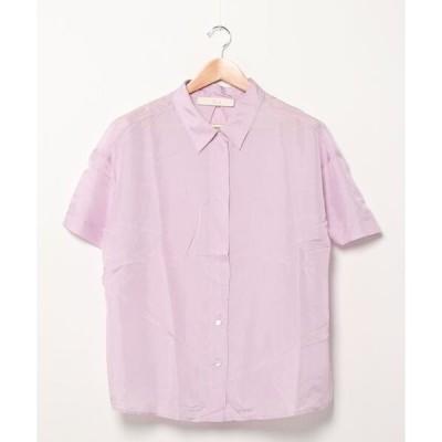 シャツ ブラウス 【W】【it】【JB2】【TELA】シルクシャツ