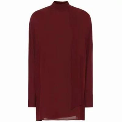 ヴァレンティノ ブラウス・シャツ Mockneck silk blouse