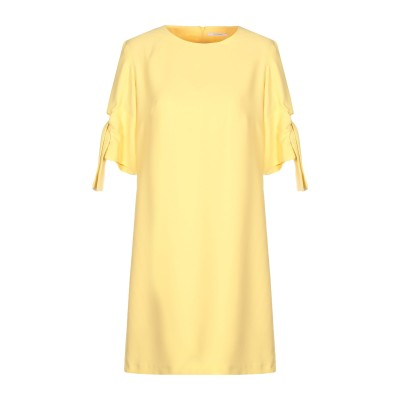 BIANCOGHIACCIO ミニワンピース&ドレス イエロー 42 ポリエステル 100% ミニワンピース&ドレス