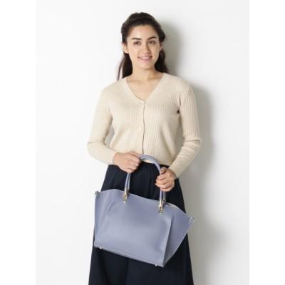 【大きいサイズ】ハンドル金具PUトート 大きいサイズ バッグ(鞄) レディース