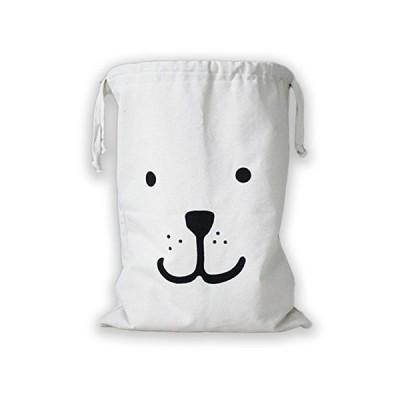 (moin moin) ドッグフェイス 巾着 袋 アメリカやヨーロッパで子供部屋の収納に大人気! ( 笑顔 特大 68cm×48cm )