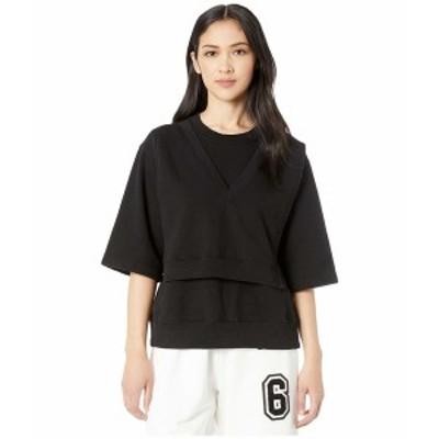 マルタンマルジェラ レディース シャツ トップス Modular Apron Detail Margiela  T-Shirt Black