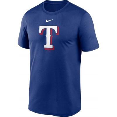 ナイキ Nike メンズ Tシャツ ドライフィット トップス Texas Rangers Blue Large Logo Legend Dri-FIT T-Shirt