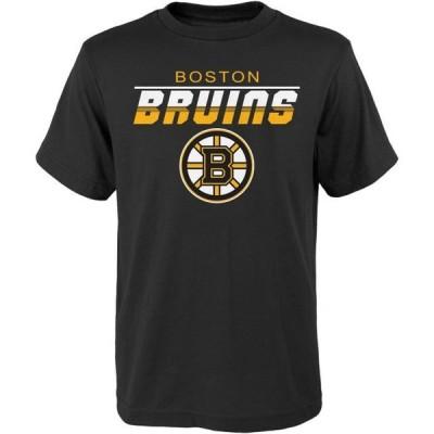 キッズ スポーツリーグ ホッケー Youth Black Boston Bruins T-Shirt Tシャツ