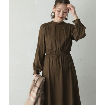 URBAN RESEARCH ROSSO/アーバンリサーチ ロッソ 前後2WAYギャザーワンピース OLIVE FREE