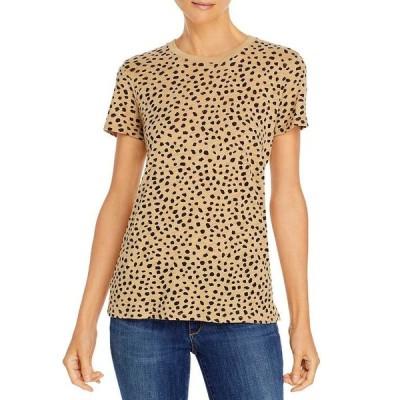 エーティーエム レディース シャツ トップス Cotton Cheetah Print Tee