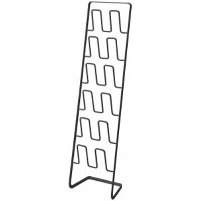 山崎実業 スリッパラック フレーム 6足用 スリム ブラック 4703