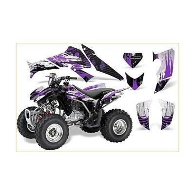 AMR Racing Graphicsキットfor ATVホンダ250?TRX / EX / X 2006???2017?ATVカーボンXパープル グラフィックキット  並