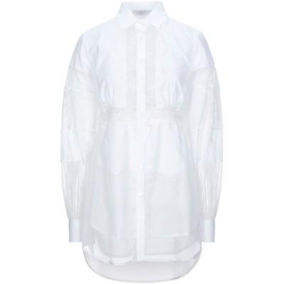 エルマノ シェルヴィーノ ERMANNO SCERVINO シャツ ホワイト 36 コットン 100% / レーヨン / ナイロン / シルク シャツ
