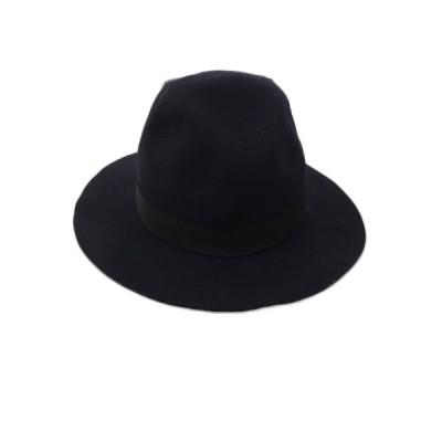 【中古】アクアガール aquagirl 帽子 中折れ帽 ウール 紺 黒 ネイビー ブラック レディース 【ベクトル 古着】