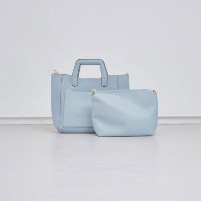 ルージュヴィフ ラクレ Rouge vif la cle 【Avancer】ポーチ付きスクエア型2WAYバッグ (サックスブルー)