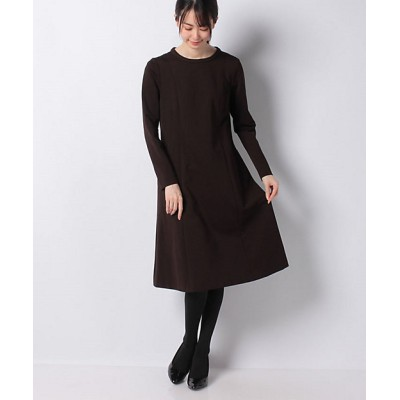 <MISS J(Women)/ミスジェイ>【セットアップ対応】ツイルジャージードレス チャイロ【三越伊勢丹/公式】