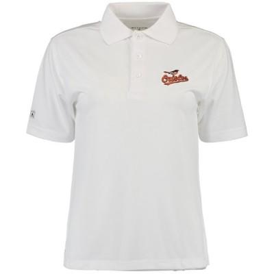 ボルチモア・オリオールズ Antigua Girls Youth Pique Xtra Lite ポロシャツ - White