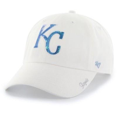 フォーティセブン 47 レディース キャップ 帽子 Kansas City Royals Sparkle Clean Up White Adjustable Hat