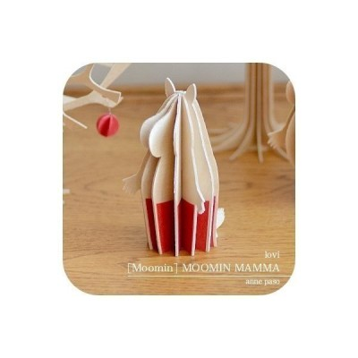 lovi ムーミンママ 木製 オブジェ  ムーミン グリーティングカード 北欧 雑貨 インテリア ロヴィ