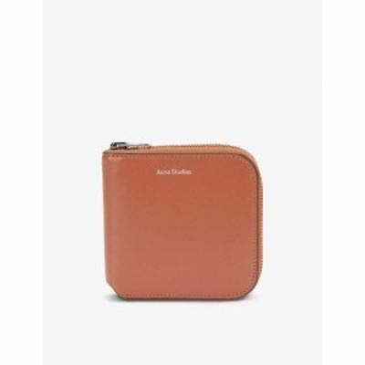 アクネ ストゥディオズ ACNE STUDIOS メンズ 財布 エンボス加工 レザー Csarite Brand-Embossed Leather Wallet ALMOND BROWN