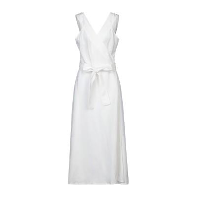 STEFANEL ロングワンピース&ドレス ホワイト 42 テンセル 75% / リネン 25% ロングワンピース&ドレス
