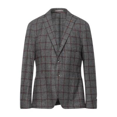 パオローニ PAOLONI テーラードジャケット グレー 54 バージンウール 80% / コットン 20% テーラードジャケット