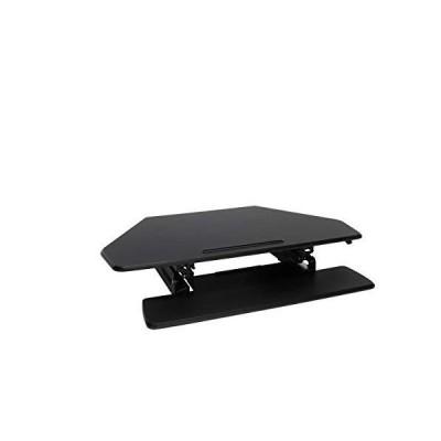 OFM Core Collection Adjustable Desktop Riser, Corner Standing L-Shaped Desk Converter, in Black 並行輸入品