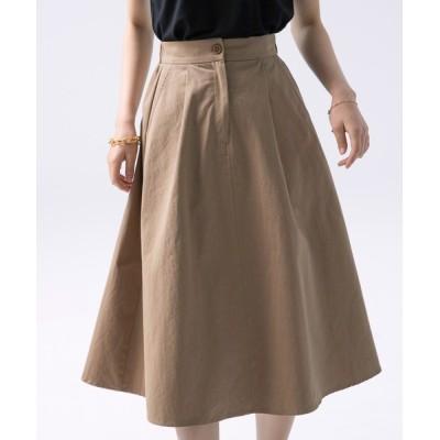 SAISON DE PAPILLON / ワンタックボリューミーフレアスカート WOMEN スカート > スカート