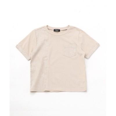 【コムサイズム】 胡粉プリントTシャツ キッズ ベージュ L COMME CA ISM