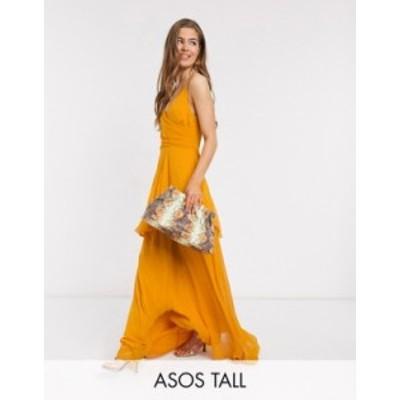 エイソス レディース ワンピース トップス ASOS DESIGN Tall soft layered cami maxi dress in sunflower yellow Sunflower