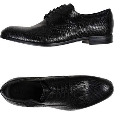アルマーニ EMPORIO ARMANI メンズ シューズ・靴 laced shoes Black