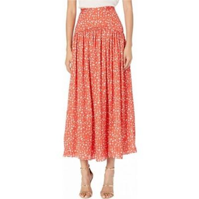 モニーク ルイリエ ML Monique Lhuillier レディース ひざ丈スカート スカート Printed Midi Skirt Cayenne Multi