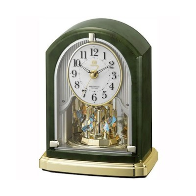 クロック 時計 置き時計 名入れ 文字入れ 高級 ハイグレードクロック メロディ付 インテリアクロック RHYTHM リズム 電波時計 電波クロック 記念品 RHG-S74
