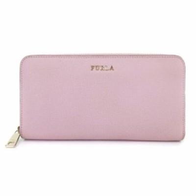 【中古】フルラ FURLA 長財布 ラウンドファスナー レザー P988430 ピンク系 ■SM レディース