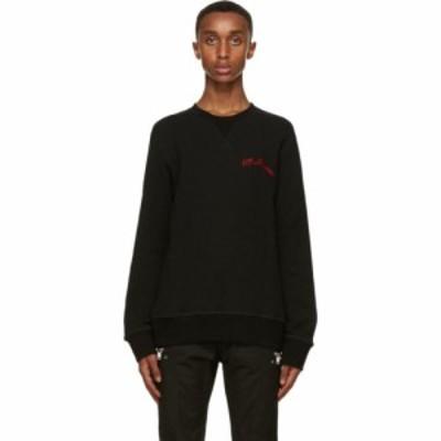 アレキサンダー マックイーン Alexander McQueen メンズ スウェット・トレーナー トップス Black Embroidered Logo Sweatshirt Black