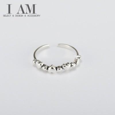 リトル ハート リング 指輪 シルバー925 フリーサイズ レディース 女性 デザイン アクセサリー