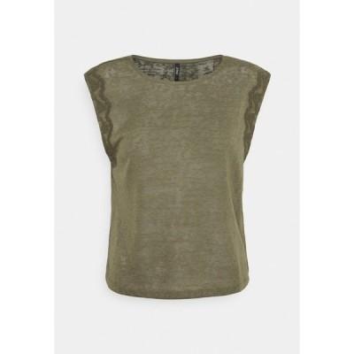 オンリー プティ Tシャツ レディース トップス ONLCELINE MIX - Print T-shirt - kalamata