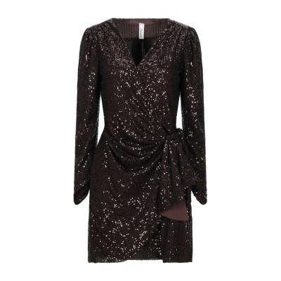 スーベニア SOUVENIR ミニワンピース&ドレス ダークブラウン S ポリエステル 100% ミニワンピース&ドレス