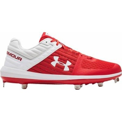 アンダーアーマー メンズ スニーカー シューズ Under Armour Men's Yard ST Baseball Cleats Red/White