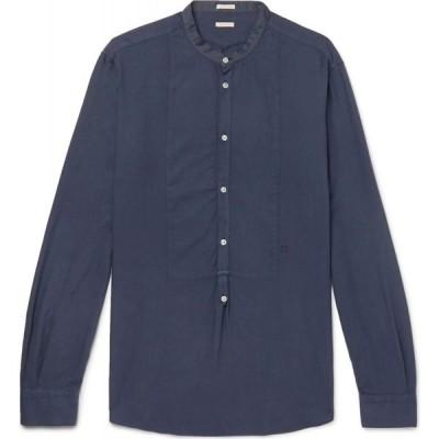 マッシモ アルバ MASSIMO ALBA メンズ シャツ トップス Solid Color Shirt Dark blue