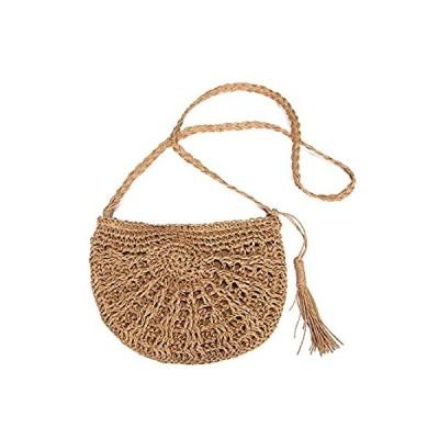 Straw Crossbody Bag, JOSEKO Women Weave Rattan Shoulder Bag Summer Beach Ro