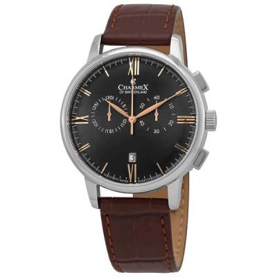 シャルメックス 腕時計 Charmex Bellagio クロノグラフ クォーツ Black Dial メンズ Watch 3047