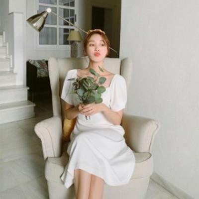ウエディングドレス ワンピース レディース 二次会 花嫁 ロングドレス 結婚式 シンプル 白 ホワイト