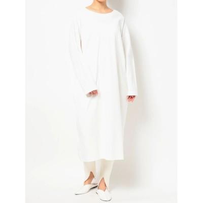 (COTORICA./コトリカ)DOUBLE COLLAR LONG SLEEVE T DRESS/レディース オフホワイト