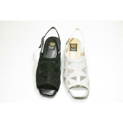 ゴールデンフット レディースシューズ  5450  チュール サンダル 婦人靴