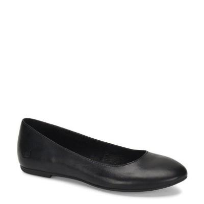ボーン レディース サンダル シューズ Adour Leather Ballet Slip-On Flats Black