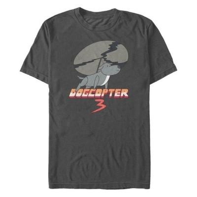 フィフスサン Tシャツ トップス メンズ Men's Steven Universe Dogcopter 3 Short Sleeve T- shirt Charcoal