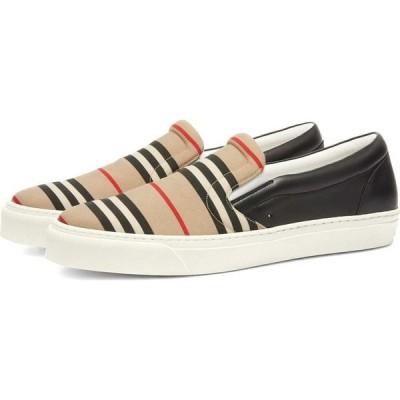 バーバリー Burberry メンズ スリッポン・フラット スニーカー シューズ・靴 Thompson Slip On Sneaker Archive Beige